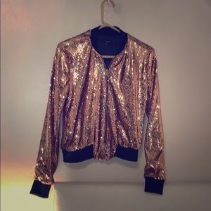 Gold rue 21 sequence bomber jacket